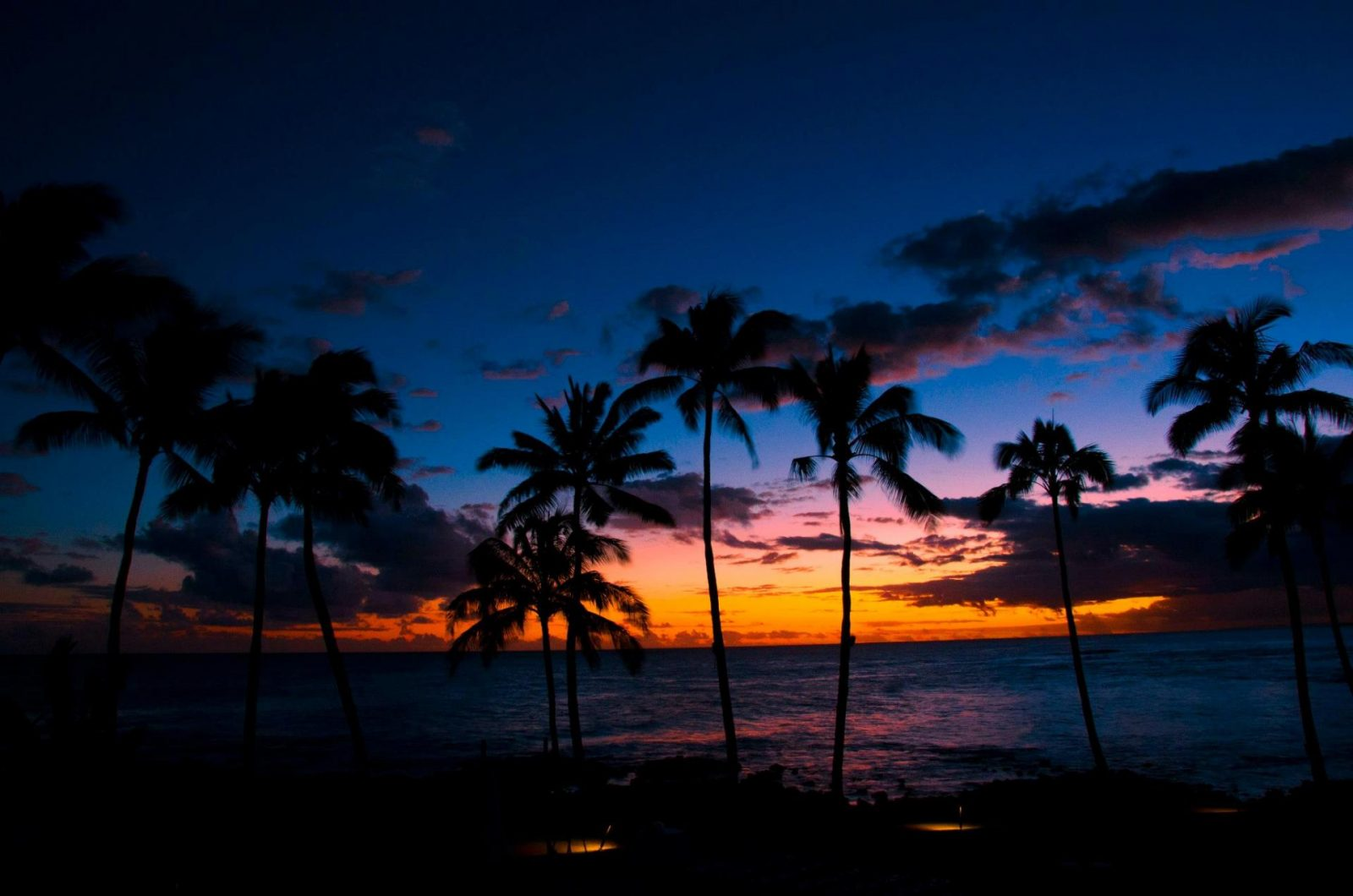 sunset in kauaii