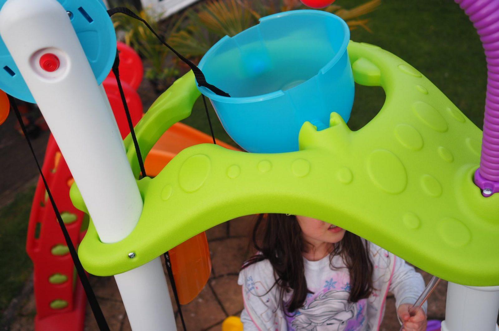 water bucket on Little Tikes Tumblin' Tower