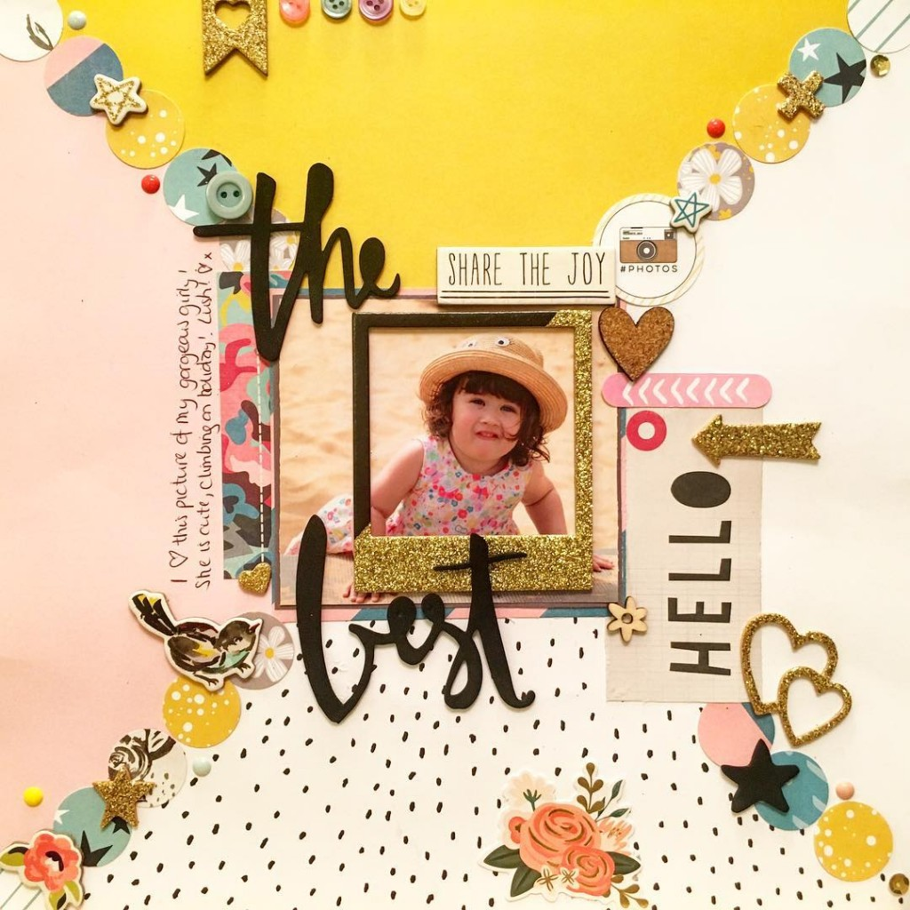 Today's finished piece! My #gorgeous #holiday #babe #thebest #scrapbooking #scrapbook #hipkitclub #maggieholmesshine #thickers #maggieholmes #hobby #crafts #sazzyscrap #mbloggers