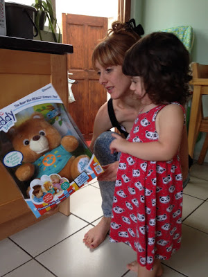 mum and daughter with my Freddy bear