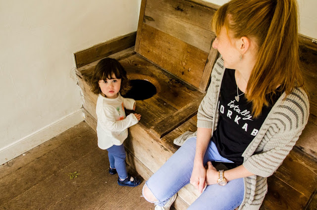 looking at a toilet - Avoncroft Museum