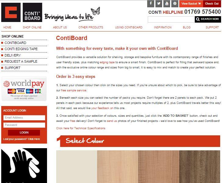 contiboard website