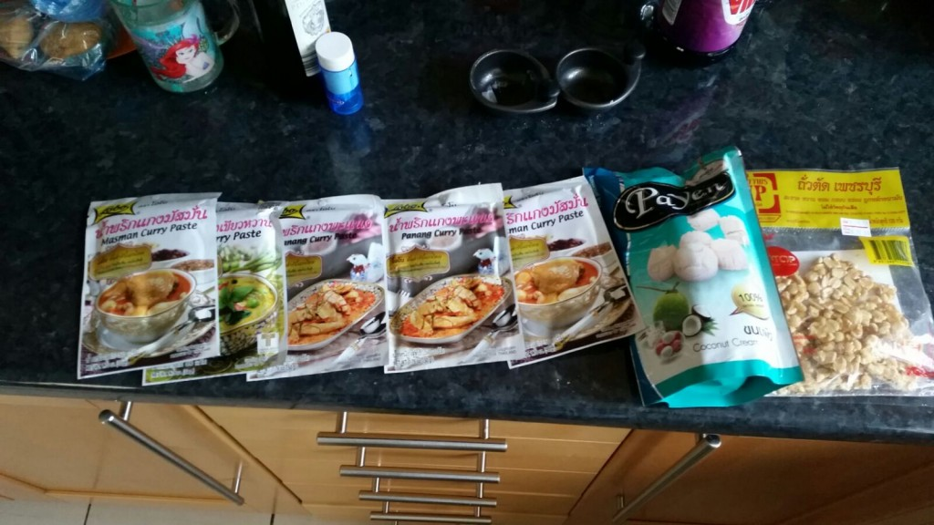 Thai curry sachets