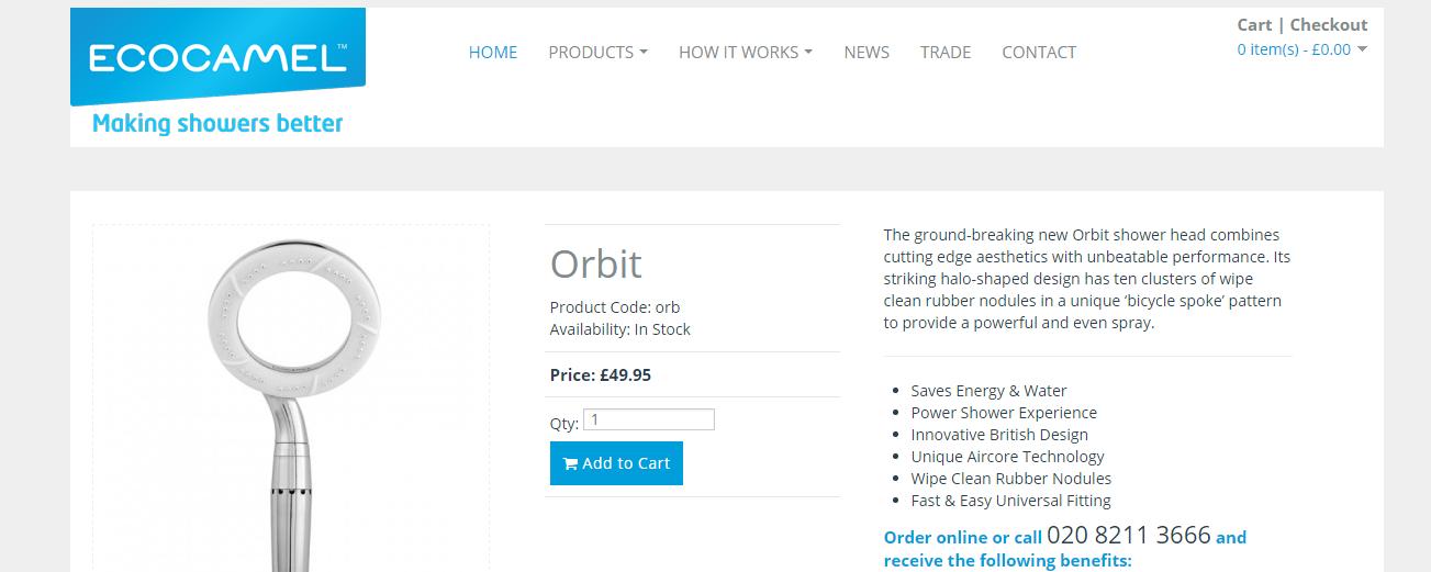 Ecocamel Orbit Shower Head REVIEW | AD