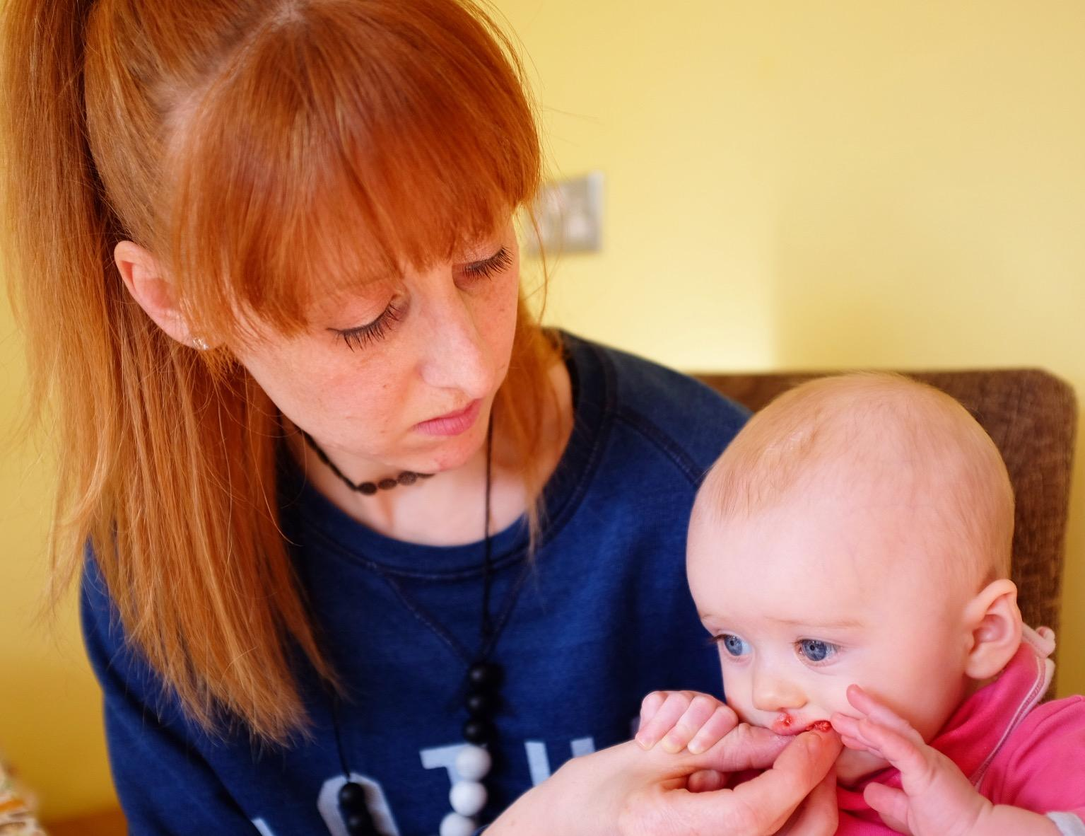 picture of baby weaning