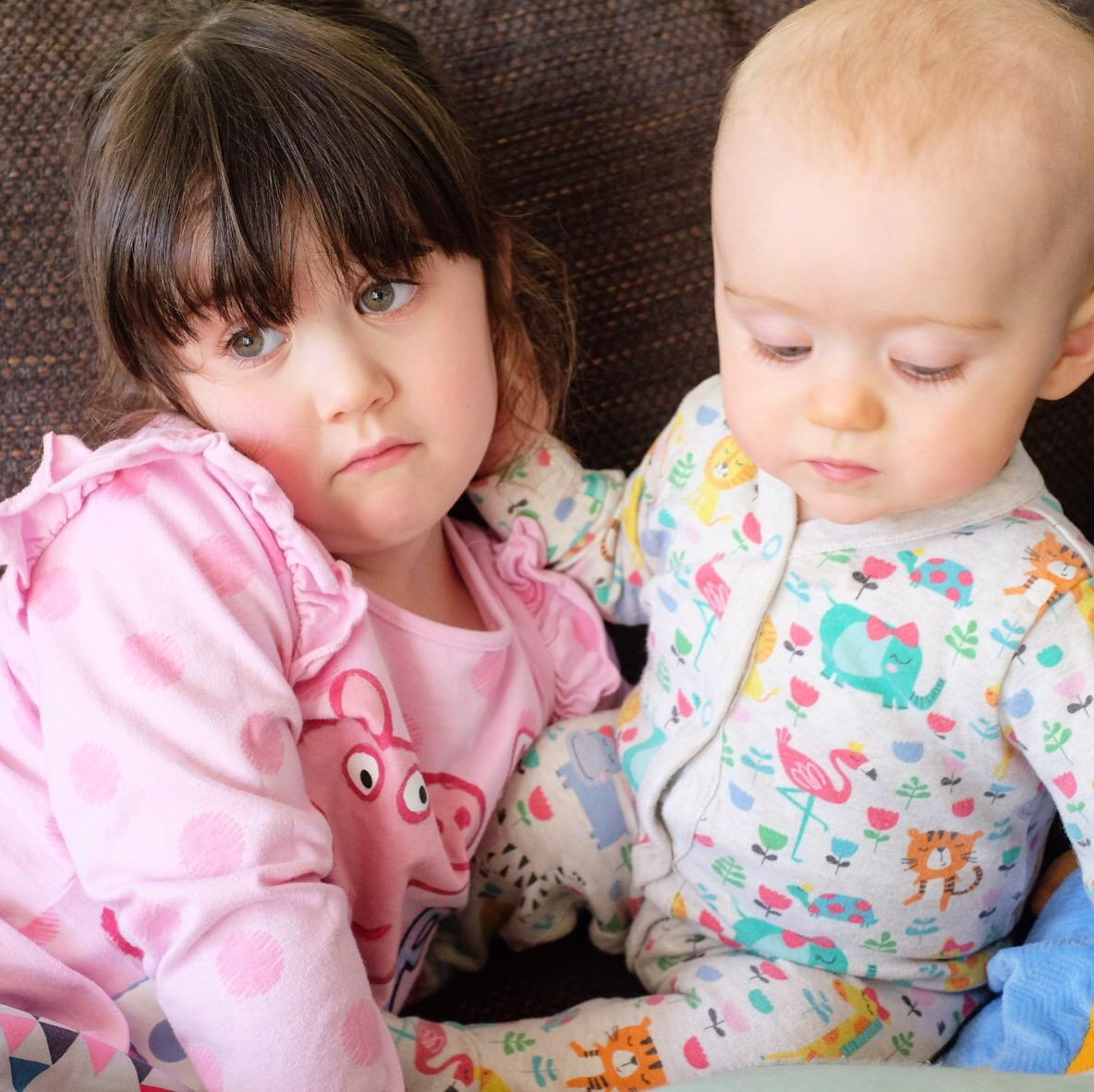 I'm a shouty mum - two children on the sofa