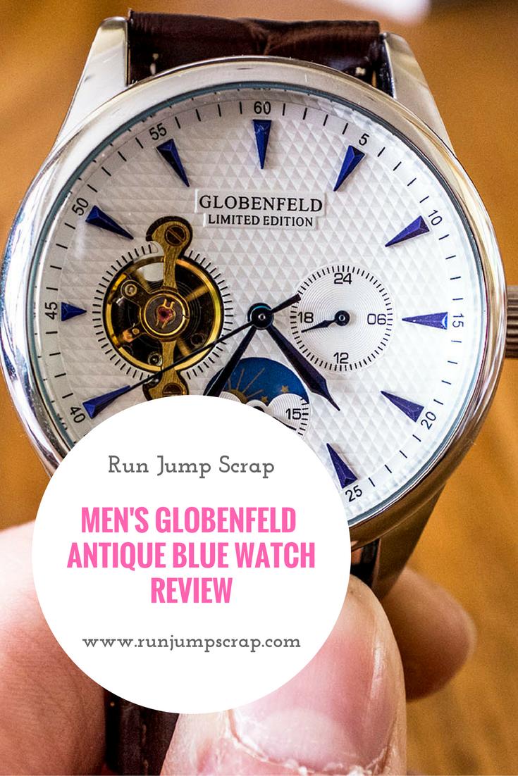 Men's Globenfeld Antique Blue Watch **REVIEW**