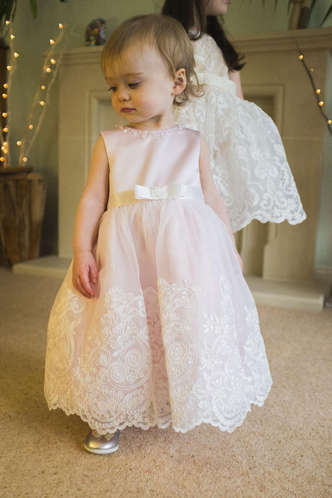 an 18 month old in a dress from Roco clothing
