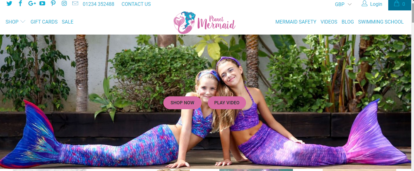 planet mermaid webpage