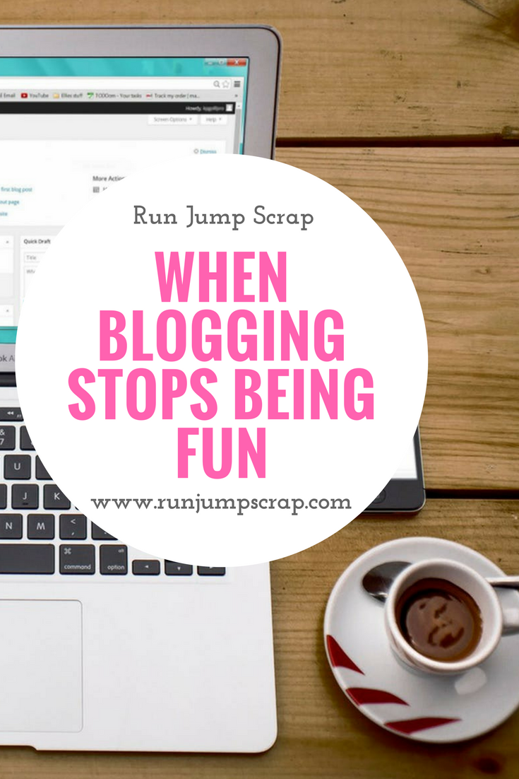 blogging stops being fun
