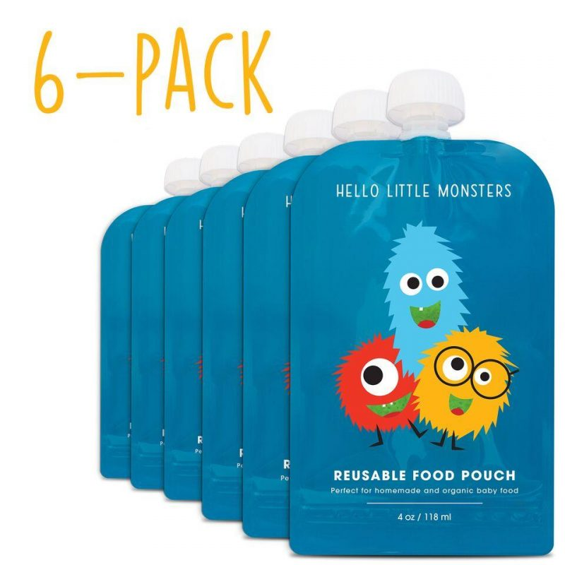 hello little monsters reusable food pouches