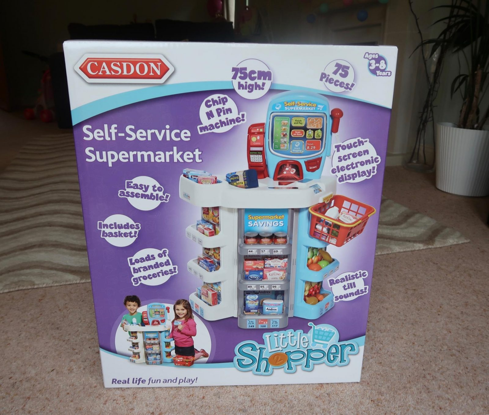 casdon self service supermarket in box