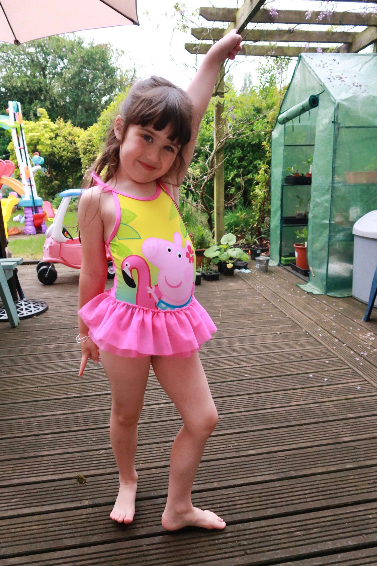 Girl in Boots Mini Club peppa pig costume