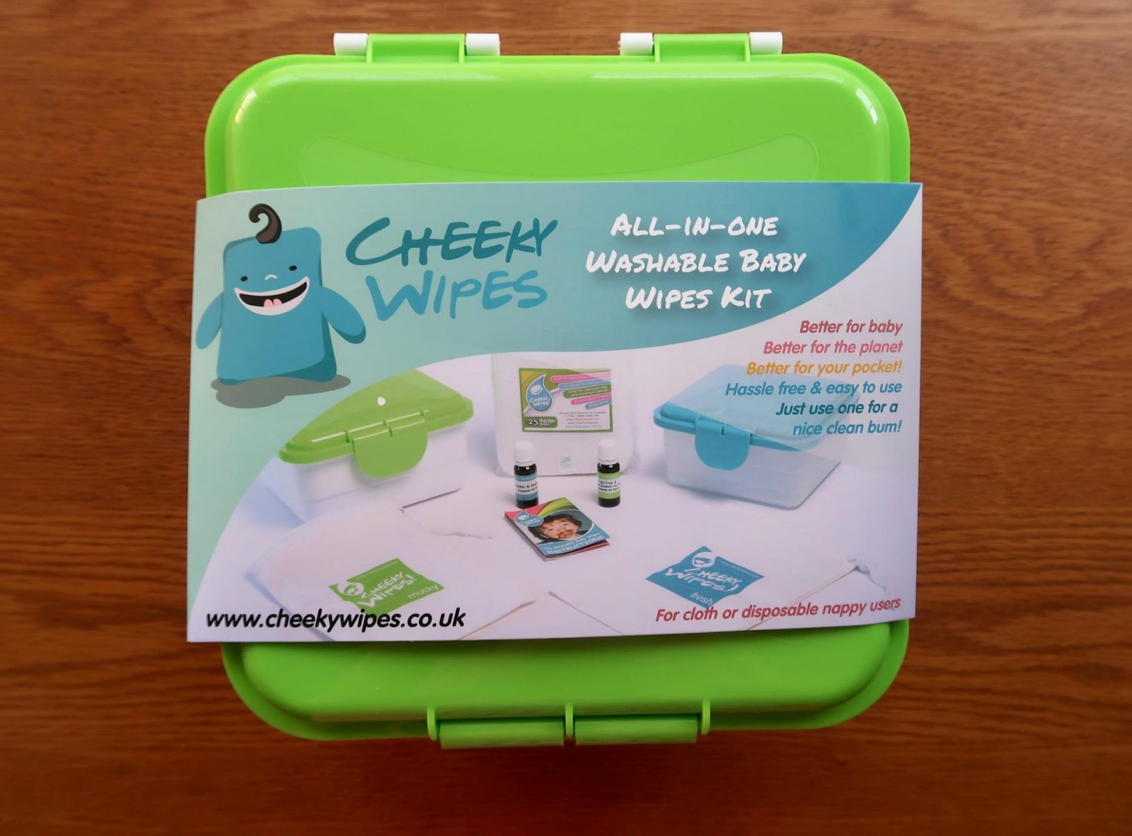 cheeky wipes all in one reusable baby wipes kit