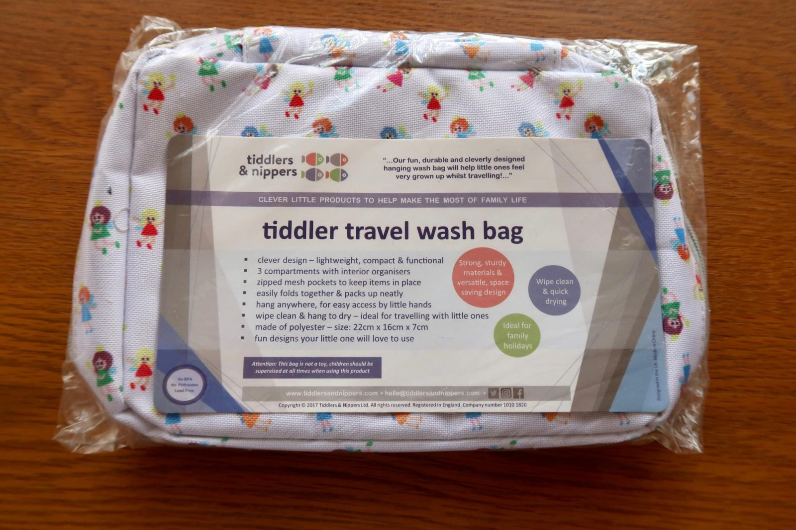 tiddler and nippers travel and wash bag