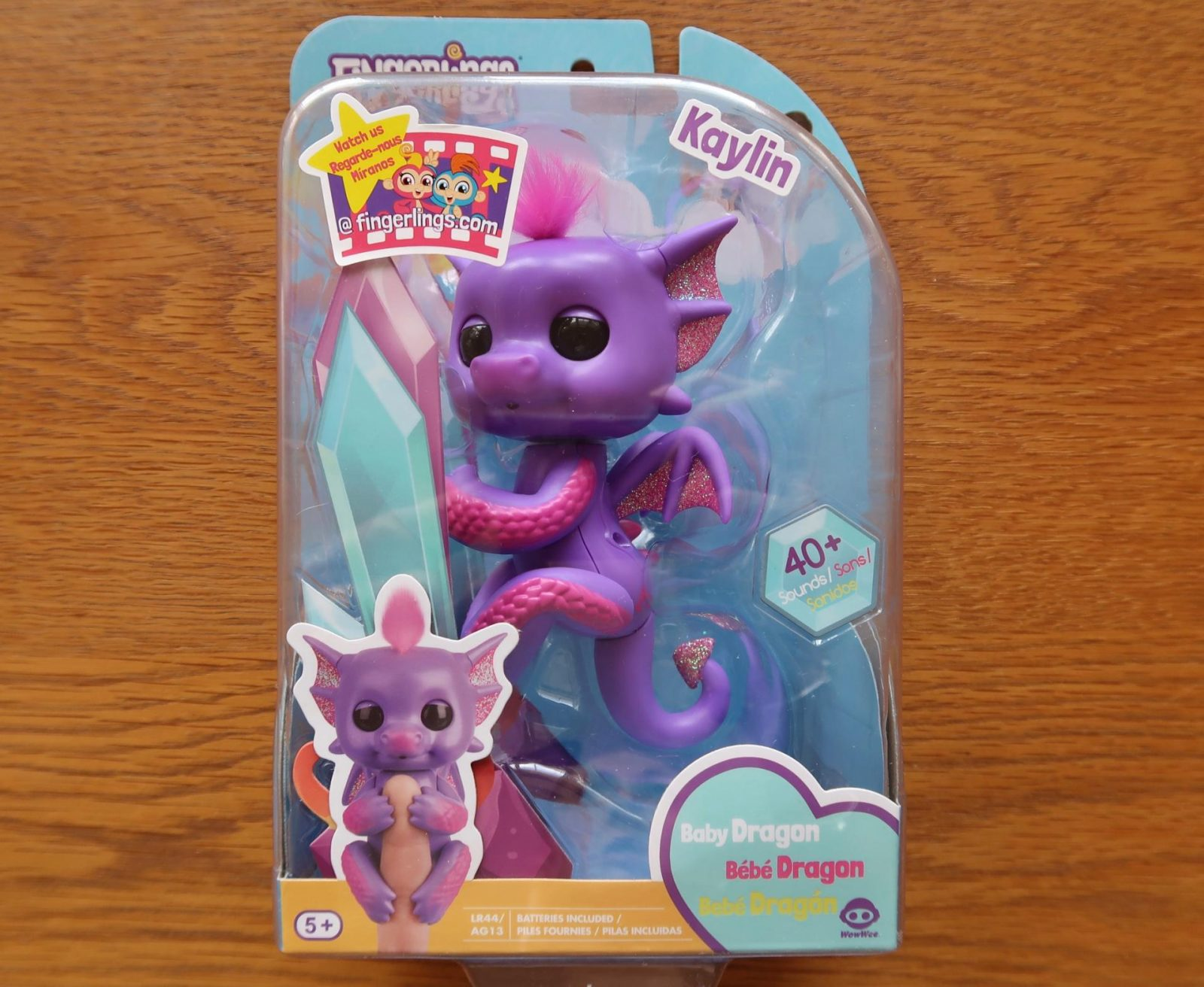 purple baby dragon fingerling Kaylin