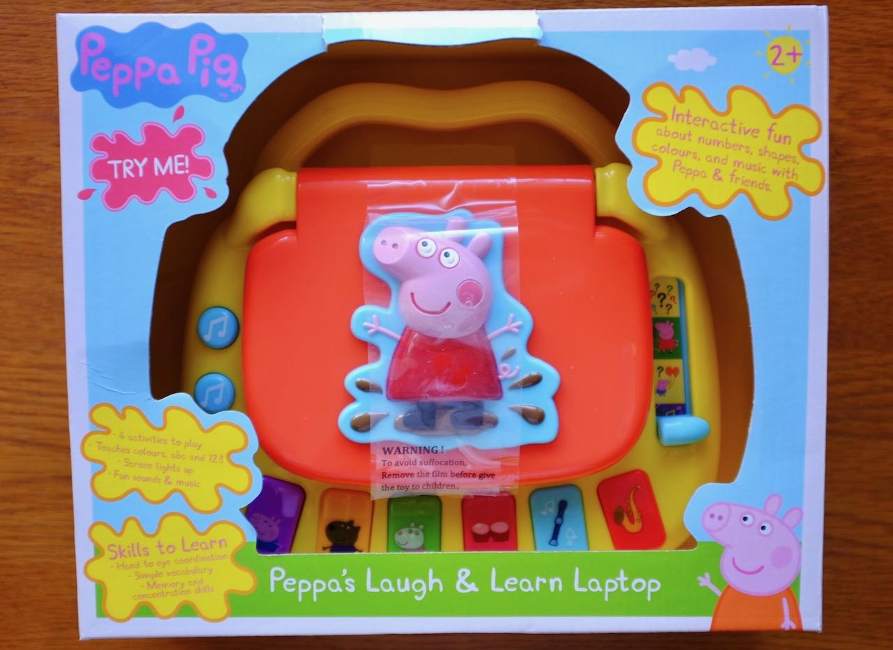 Peppa Pig Laugh and Learn Laptop in box