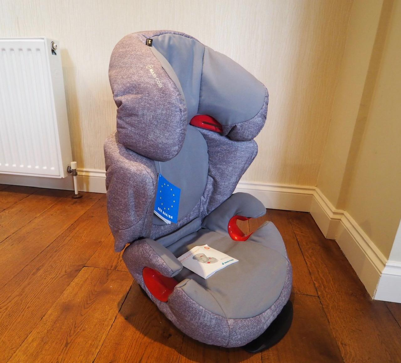 the maxi-cosi Rodi Air Protect car seat in nomad grey prior to installation side view