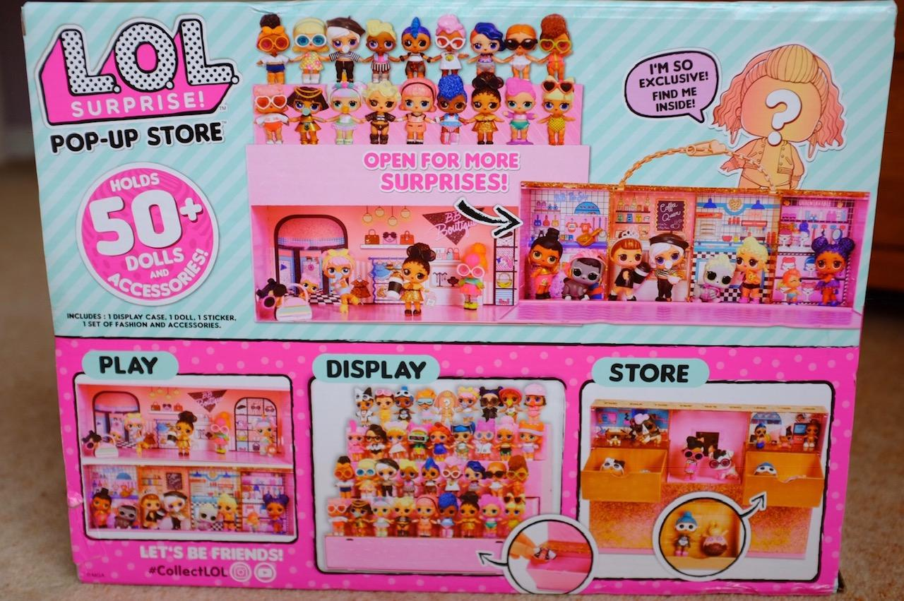 L.O.L. Surprise! Pop Up Store back of box