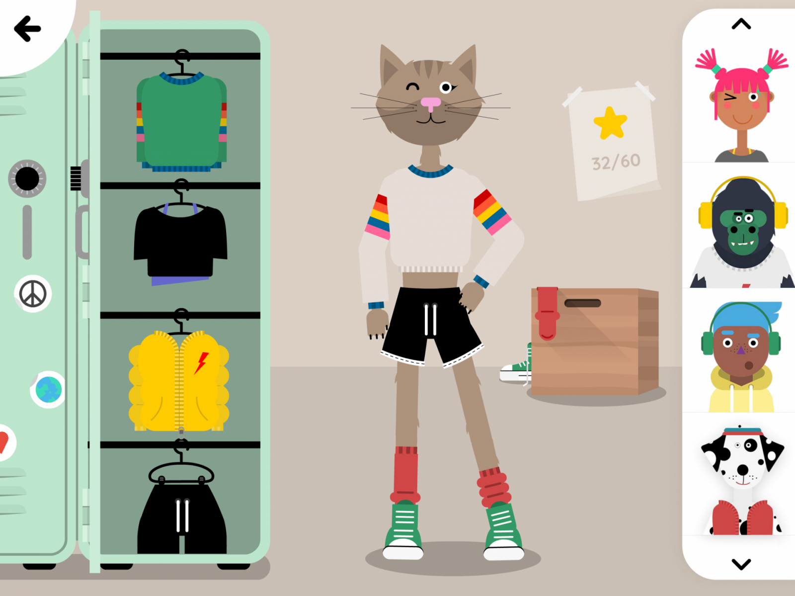 Dressing your characters on The Fitoons App