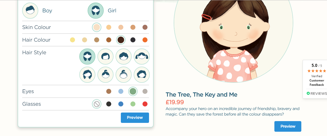 Creating a character for The Tree, The Key and Me Book