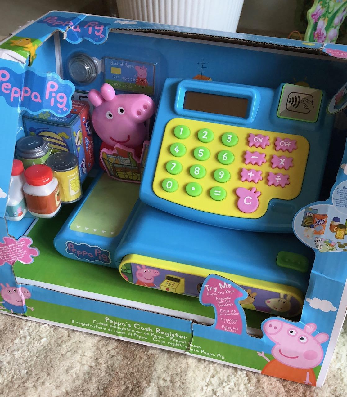 Peppa Pig cash register in the box