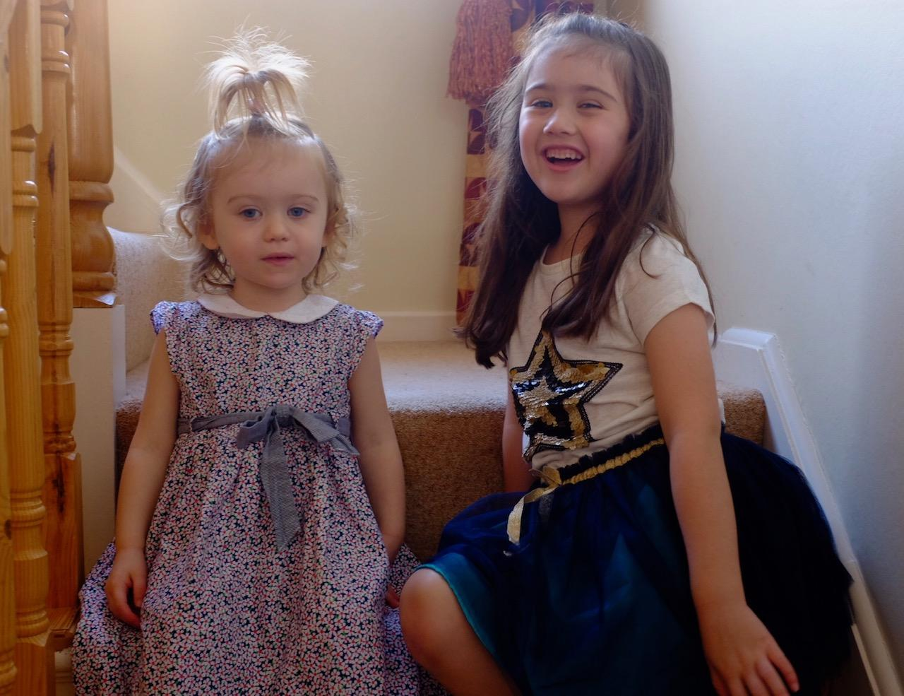 Girls in pre-loved Loopster clothes