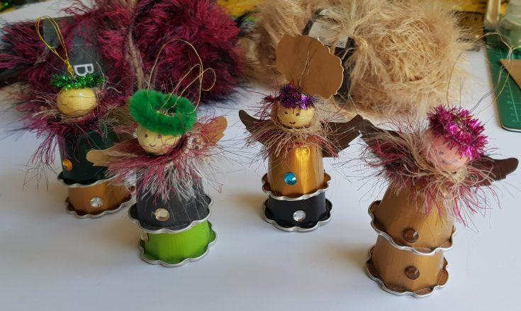 Recycled Christmas Decorations with Coffee Capsules