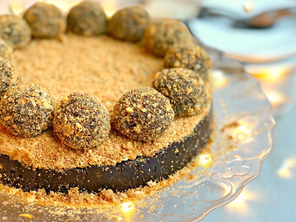 Chocolate and Amaretto Chocolate Truffle Torte