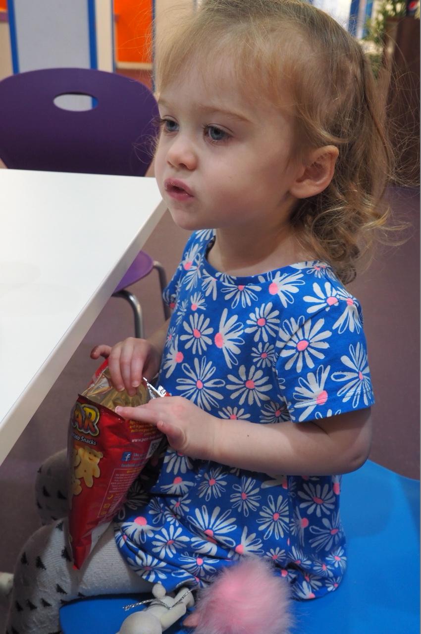 Toddler having a snack Inflatanation Birmingham