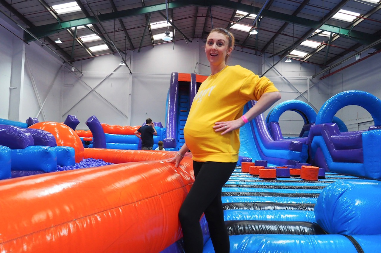 pregnant lady in soft play