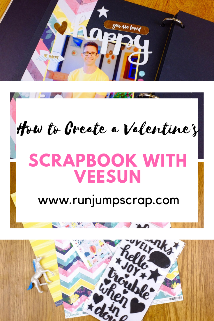 How to create a valentine's scrapbook with Veesun