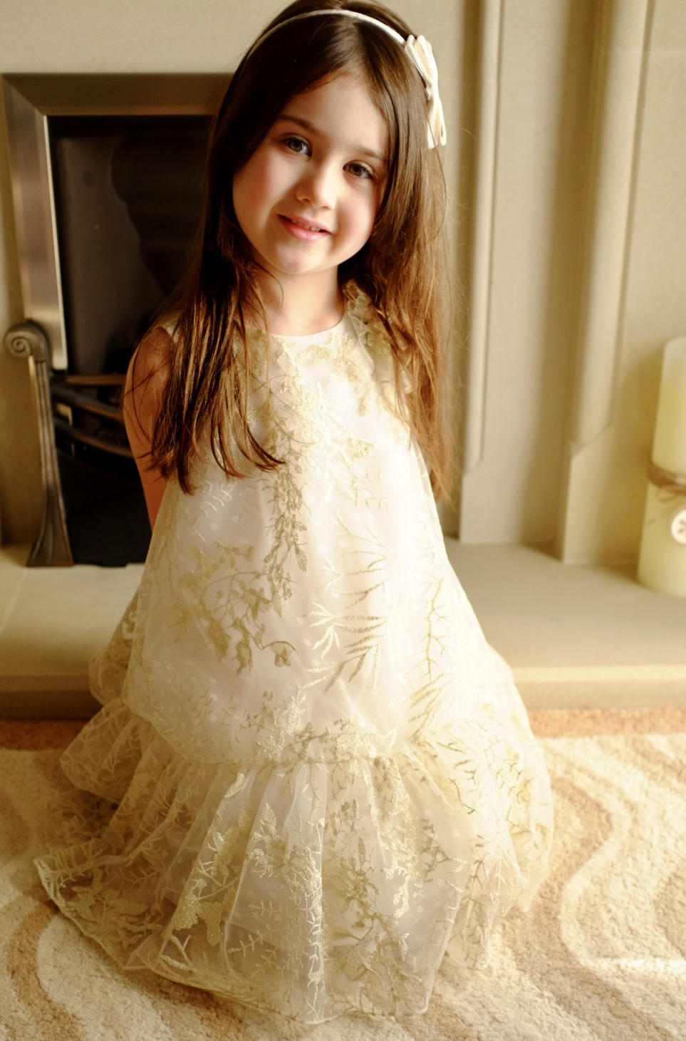 5 year old in David Charles spring/summer collection dress