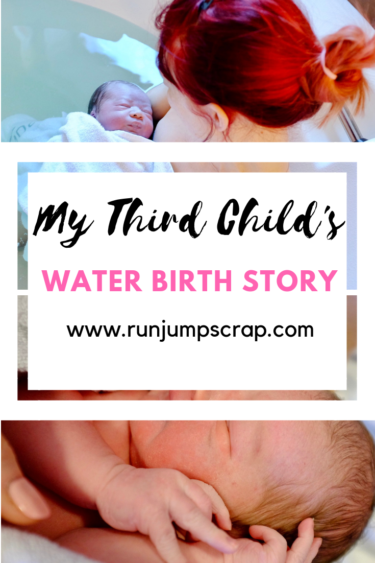 water birth story for my third child