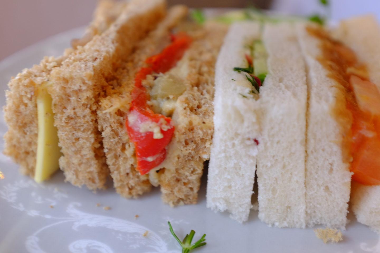 vegan sandwiches Laura Ashley tea room