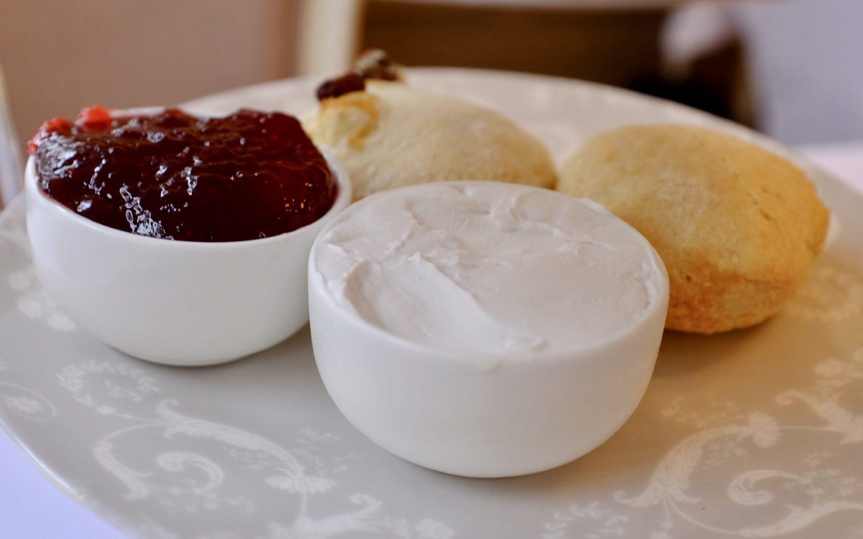 vegan scones and coconut cream Laura Ashley