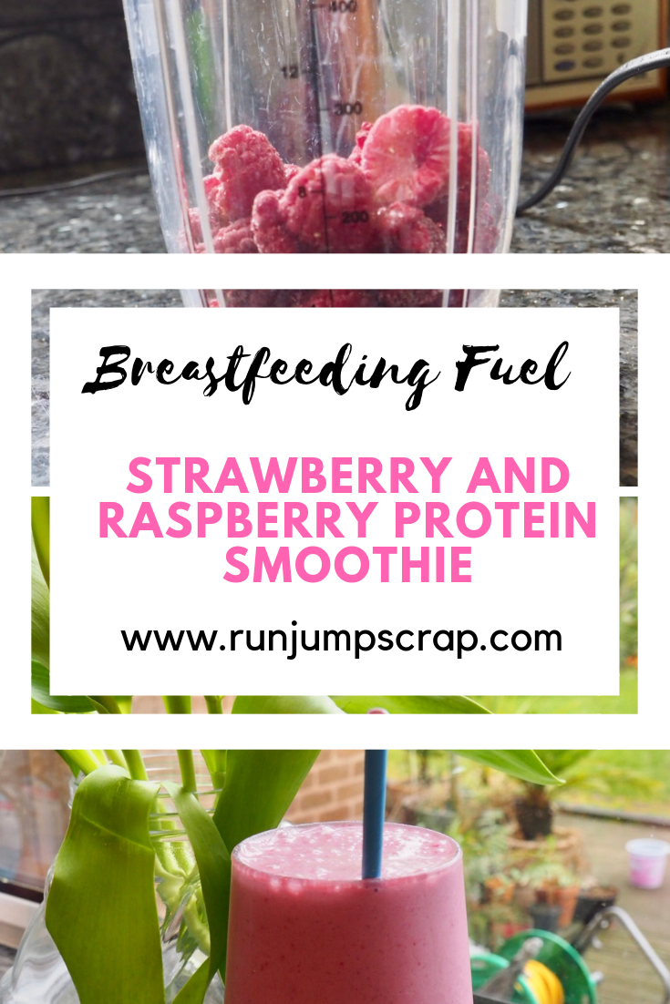 Strawberry and raspberry protein smoothie