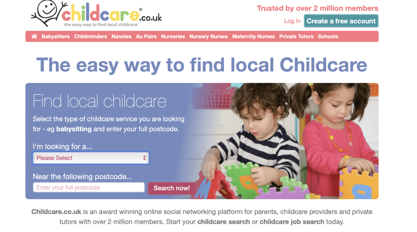 childcare in your area