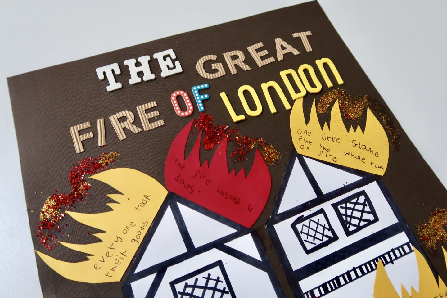 The great fire of London crafts