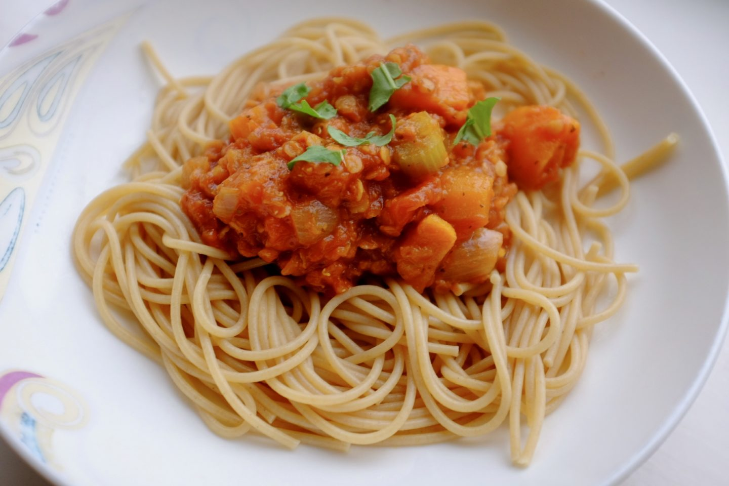 Lentil and Sweet Potato Bolognaise – Weaning and Vegan Recipe