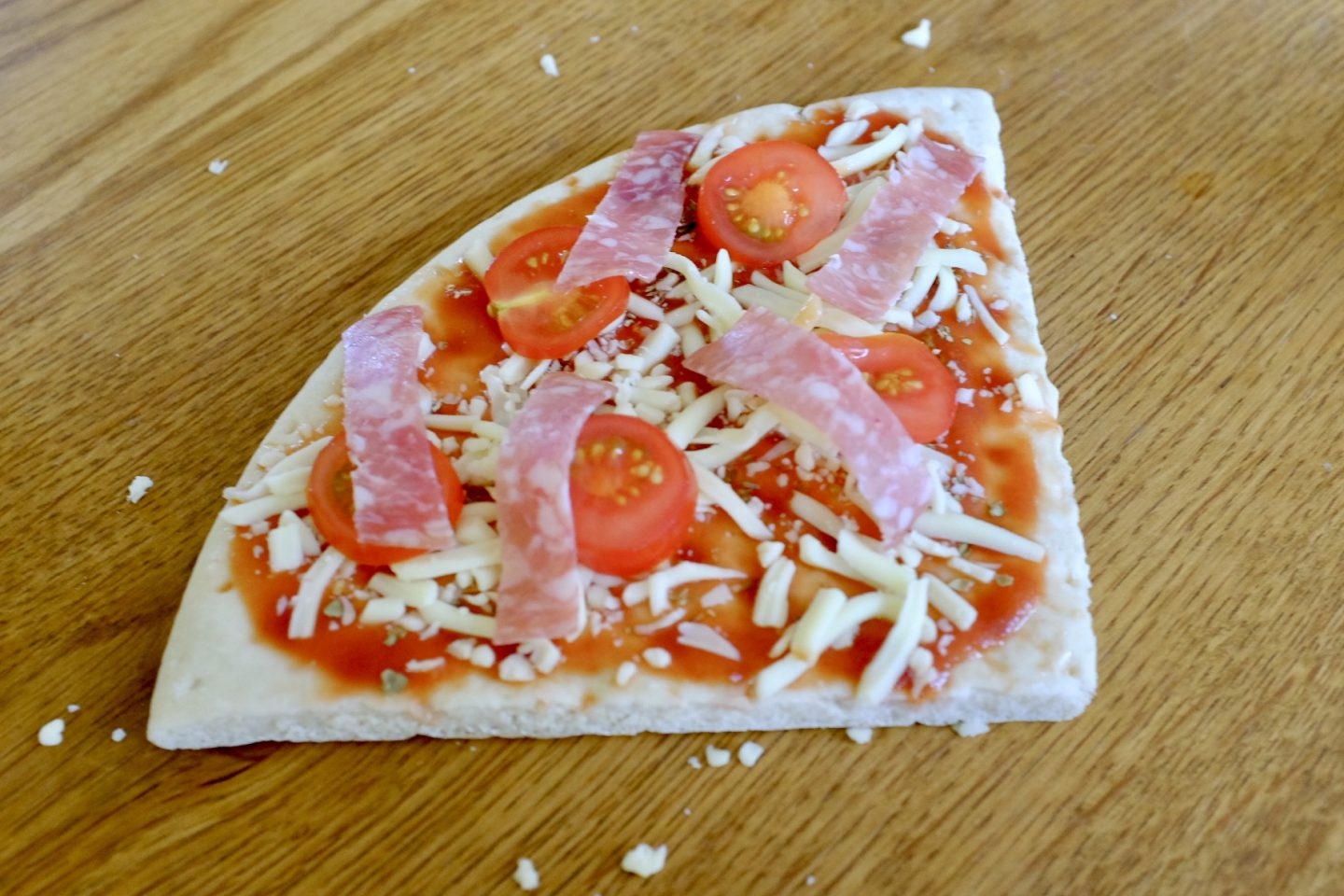 piccolo tomatoes on a pizza