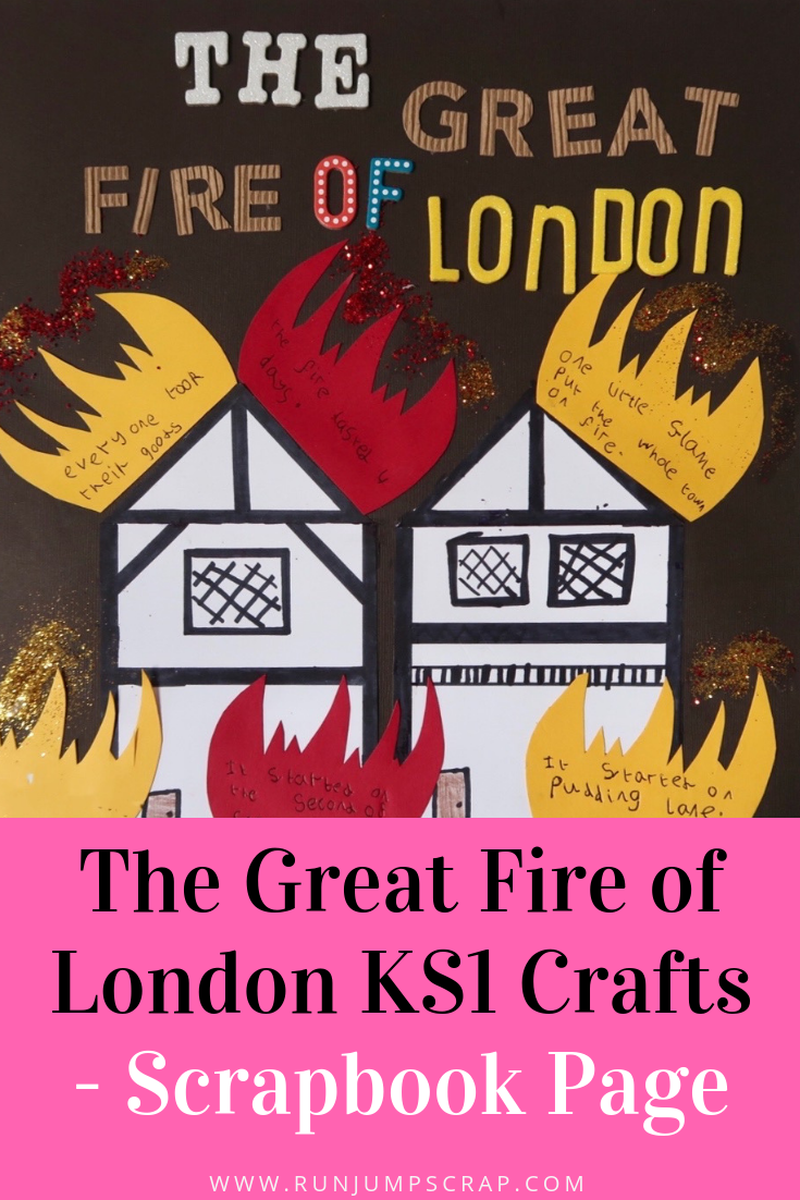 the great fire of London for kids - scrapbook page