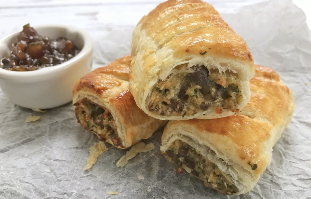 sausage rolls - vegetarian recipes