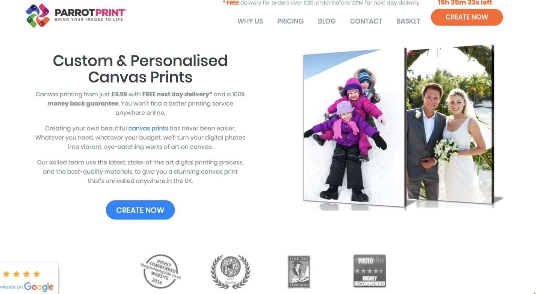 parrot print website