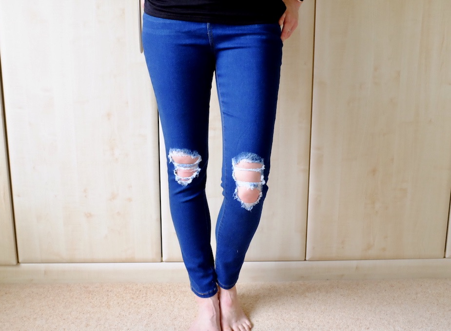 ripped blue jeans by femme-luxe finery