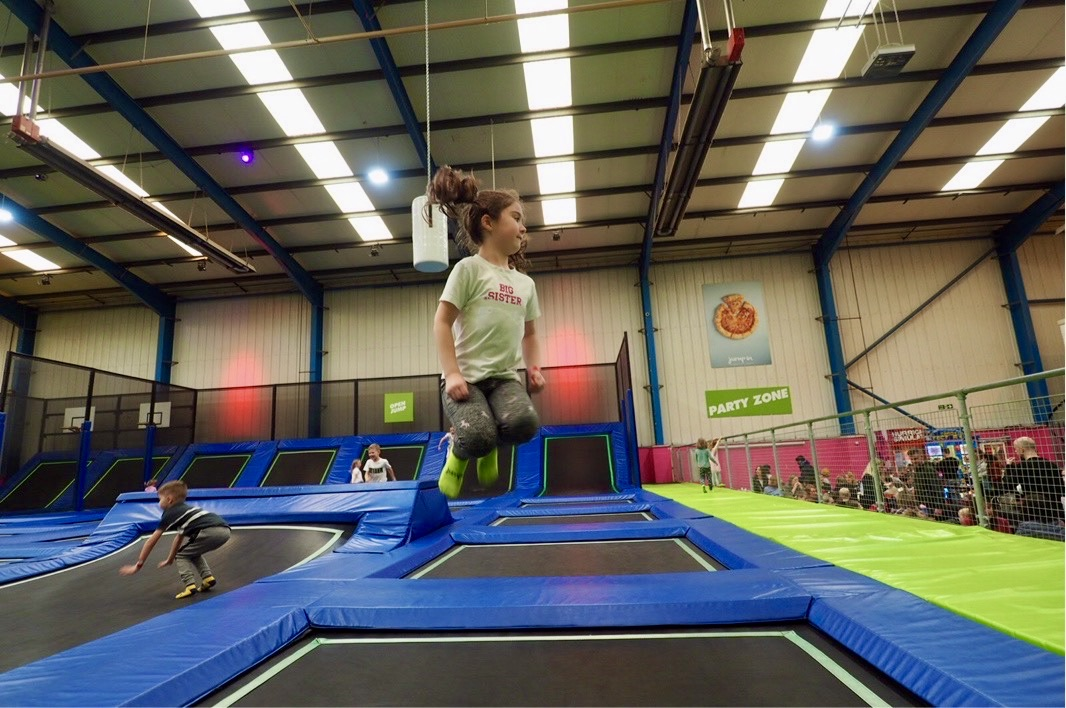 Girl on a trampoline