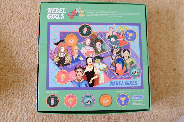 back of the rebel girls jigsaw box