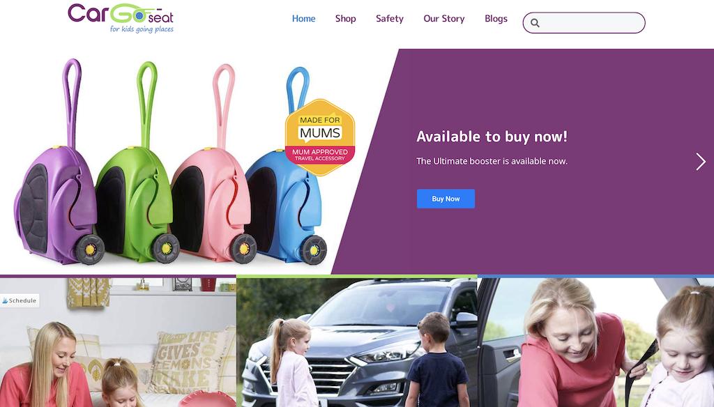 CarGoSeat webpage