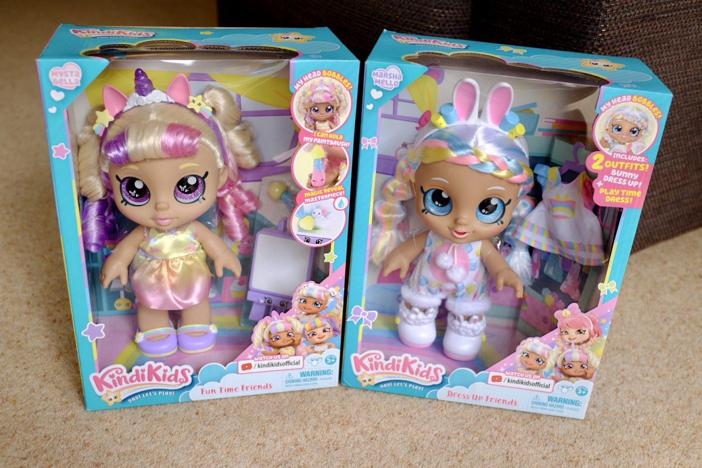 Kindi Kids dress up dolls in the box