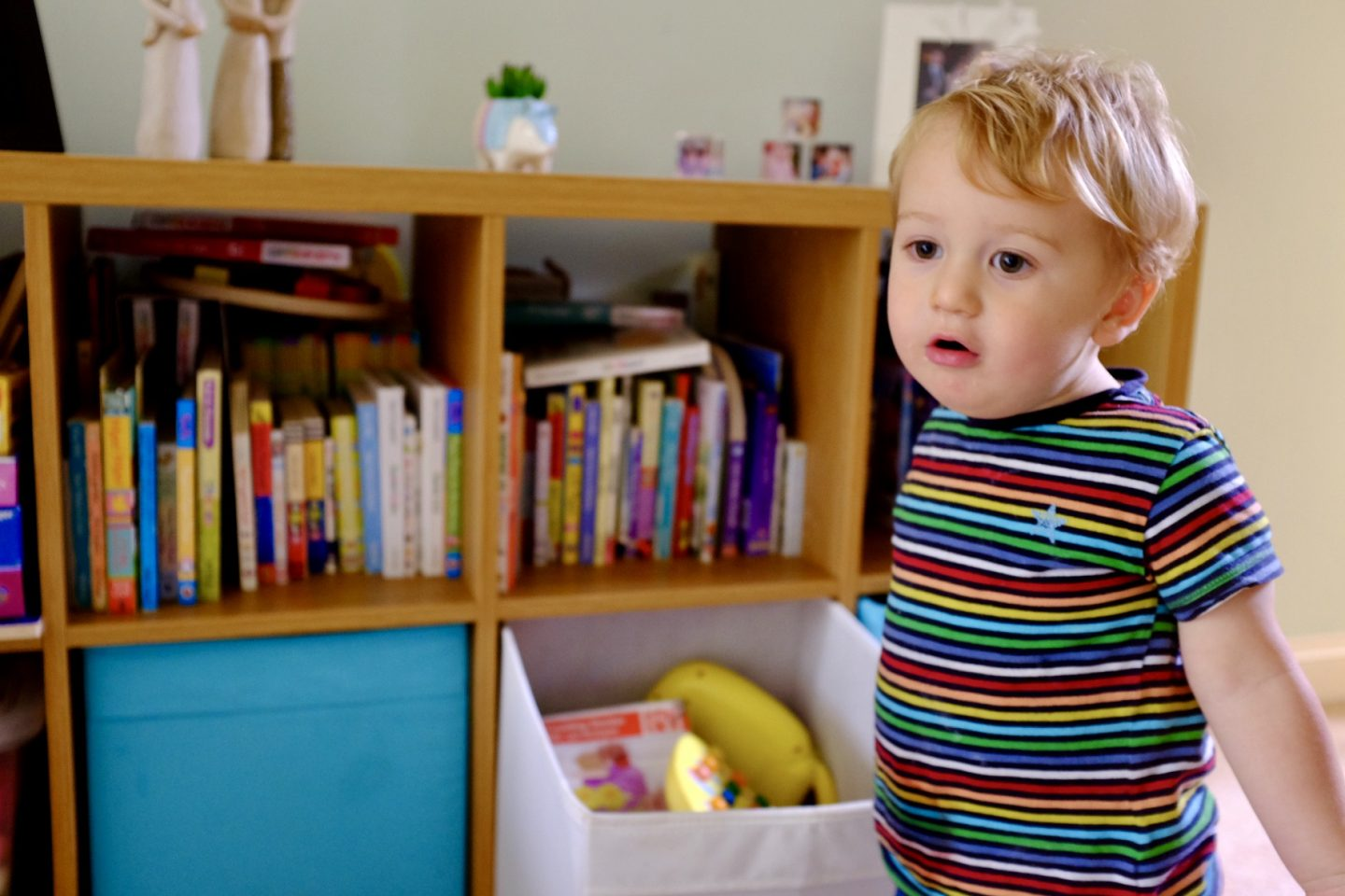 entertain an 18 month old with books